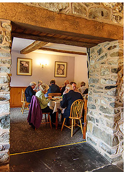 The restaurant and lounge can accommodate up to 60 diners at The Penrhos Arms.